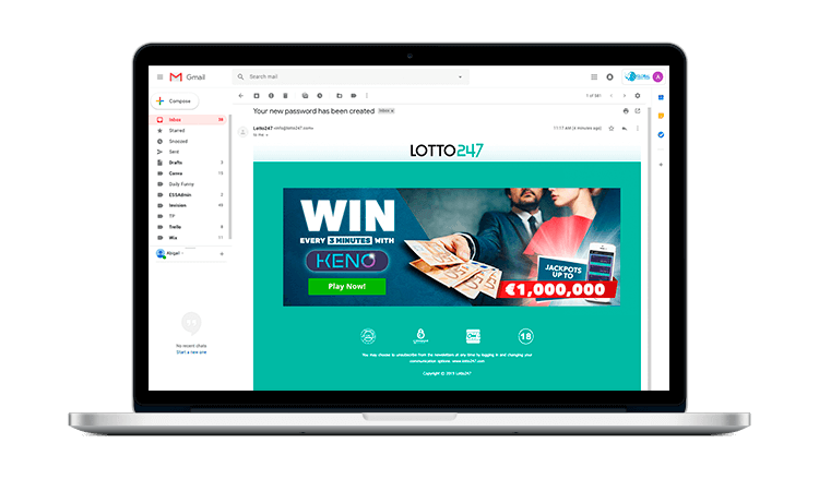 Lotto247 Email Campaigns